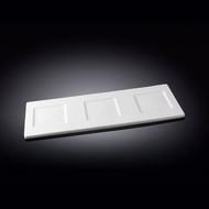 "Wilmax 3-Well White Rectangular Tasting Board 14.13"" x 5.2"""