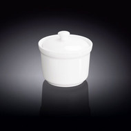 Wilmax White Porcelain Soup Cup with Lid 8 oz