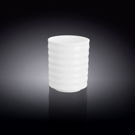 Wilmax White Porcelain Ridged Tea Cup 7 oz