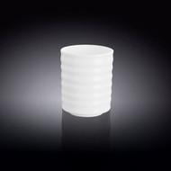 Wilmax White Porcelain Ridged Tea Cup 7.5 fl oz