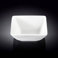 "Wilmax White Square Small Bowl 4.75"" x 4.5"""