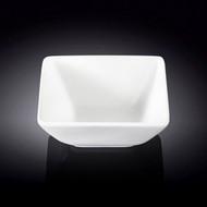 "Wilmax White Square Small Bowl 4.65"" x 4.33"""
