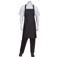 Chef Works® Cross-Back Bib Black Apron