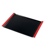 "Resin Black Serving Tray with Red Handles 18"" x 12 1/2"""