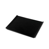 "Non-slip Black Serving Tray with Handles 15 3/8"" x 10 7/8"""