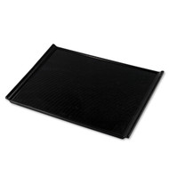 "Non-slip Black Serving Tray with Handles 17 3/4"" x 12 3/8"""