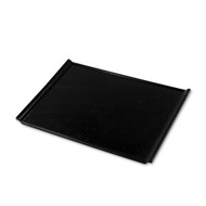 "Non-slip Black Rectangular Serving Tray with Handles 16 3/4"" x 12"""