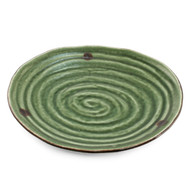 "Swirl Textured Green Plate 9 1/2"" x 8 7/8"""