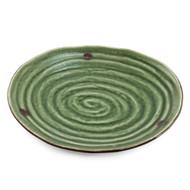 "Swirl Textured Green Plate 9.5"" x 8.85"""