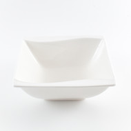 "[Clearance] White Porcelain Medium Square Bowl 5 1/4"" / 15oz"