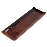 "Glossy Brown Rectangular Plate 14 3/8"" x 4 3/4"""