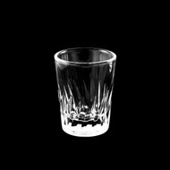 Feather Cut Shot Glass Cup 2oz