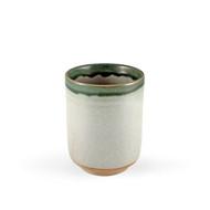 Oribe Dipped Yunomi Tea Cup