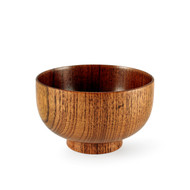 "Wood Pattern Soup Bowl 4 3/8"" dia"