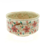 Handpainted Cherry Blossoms Matcha Tea Bowl