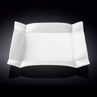 "Wilmax Deep Rimmed White Square Dinner Plate 11.4"" dia"
