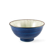 "[NEW] Donburi Bowl with Striped Interior 6.25"" dia / 20 fl oz"