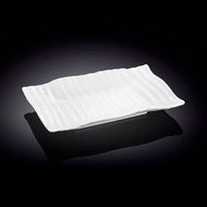 "Wilmax Rippled White Rectangular Plate 7"" x 4.5"""