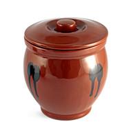Brown Earthen Sauce Jar 48oz