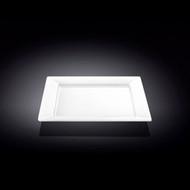 """Wilmax White Rimmed Square Dessert Plate 7.5"""" dia"""