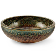"[NEW] Ainagashi Blue Earthy Serving Bowl 9.25"" dia"