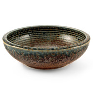 "Ainagashi Blue Earthy Serving Bowl 38 fl oz / 7.5"" dia"