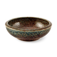 "Ainagashi Blue Earthy Serving Bowl 17 fl oz / 6.75"" dia"