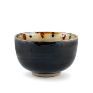 "Cobalt Donbri Bowl with lined interior 5.83"" dia"