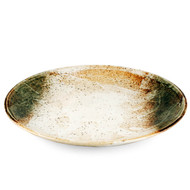 "Yukishino Moss White Serving Plate 12.25"" dia"