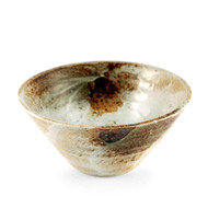 "[NEW] Yukishino Moss White Noodle Bowl 7.75"" dia x 3"" ht"