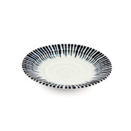 "[NEW] Blue Stripe Rimmed Plate 5.25"" dia"