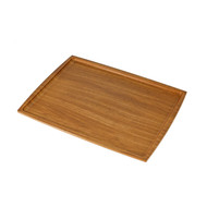 "Non-slip Brown Tray 14"" x 10"""