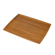 "Non-slip Brown Tray 15.25"" x 11.75"""