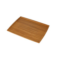 "Non-slip Brown Tray 13"" x 9 .5"""