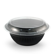 "TZ-364 Black Take Out Bowl 7.5"" dia 36oz  (50/pack)"