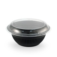 "TZ-362 Black Take Out Bowl 4.5"" dia 26oz  (55/pack)"