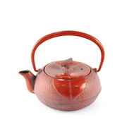 [NEW] Leaf Motif Red Nanbu Cast Iron Teapot 10 oz