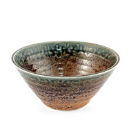 "[NEW] Ainagashi Blue Earthy Ridged Noodle Bowl 7.7"" dia"