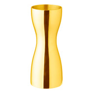 Yukiwa Gold Plated Stainless Steel Seamless Jigger 1¾ oz x 1 oz
