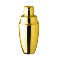 15% Off with code MTCBARWARE15 - Yukiwa Gold-Plated Cobbler Cocktail Shaker 500ml (17 oz)