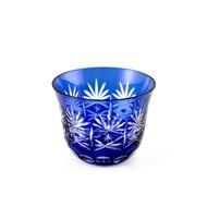 Blue Kiriko Cut-Glass Style Cup