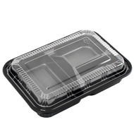 "TZ-303 Black Take Out Bento Box 9"" x 6 1/4"" (45/pack)"