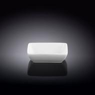 "Wilmax White Soy Sauce Dish 3.15"" x 2.36"""