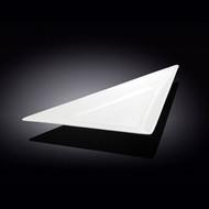 """Wilmax White Triangular Plate 7"""" x 5.12"""""""