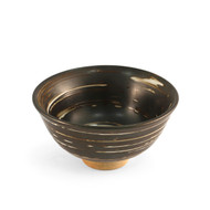 "Brown Swirl Rice Bowl 4.7"" dia"