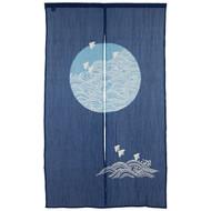 [NEW] Noren Curtain with Chidori Birds