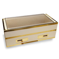 "[NEW] Charcoal Konro Grill with Brass Large 21.5"" x 10"""
