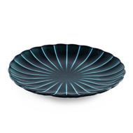 "Giyaman Daisy Glossy Blue Round Plate 7.99"" dia"