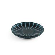 "Giyaman Daisy Glossy Blue Round Plate 3.9"" dia"