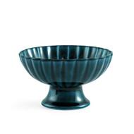 "Giyaman Daisy Glossy Blue Dessert Bowl 4.5"" dia"